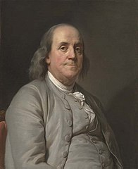 This Portrait of Benjamin Franklin was painted by Joseph Duplessis in 1778.  It currently resides in the National Portrait Gallery of the Smithsonian Institute.