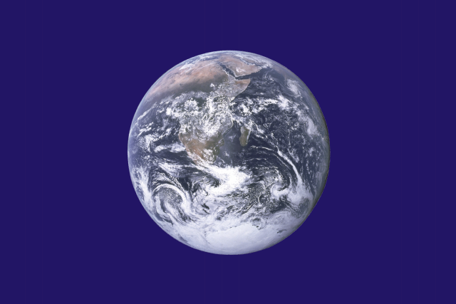 This is the official Earth Day flag utilizing a NASA image of Earth.
