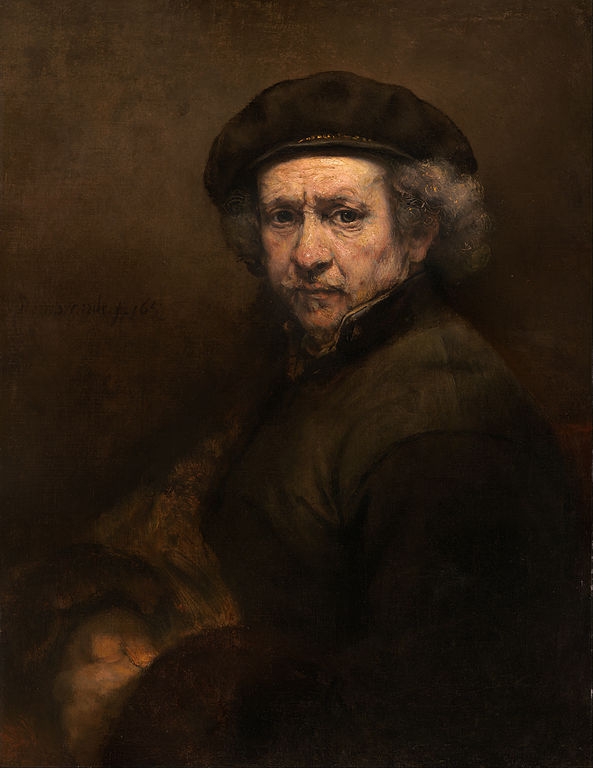 This is one of the nearly one hundred Rembrandt self-portraits, realized in 1659. It currently resides in the National Museum of Art in Washington, D.C. USA.