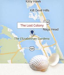 Map of Roanoke Island.