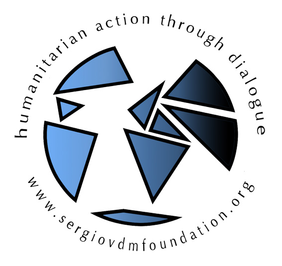 This logo for the SVMF was created by Sergio Vieira de Mello's son and has a CC BY 3.0 license.