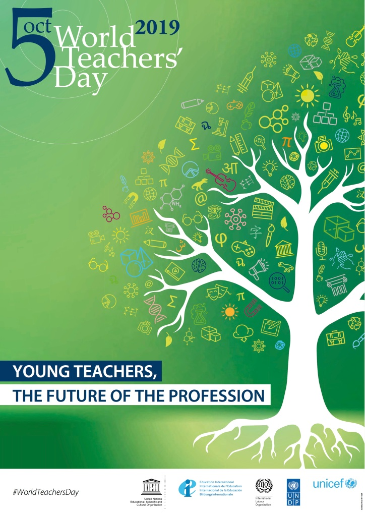 2019 Official World Teacher's Day poster.