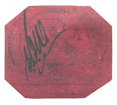 The British Guiana 1c Magenta is the world's most famous and rare stamp.