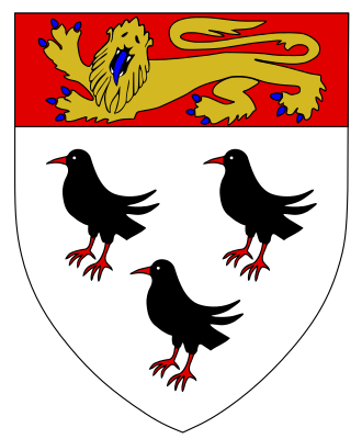 The coat of arms o Canterbury combines the arms of Thomas Becket (three Cornish choughs )with a lion from the coat of arms of England. It was created by ModWilson and is available under a CC BY-SA 3.0 license.
