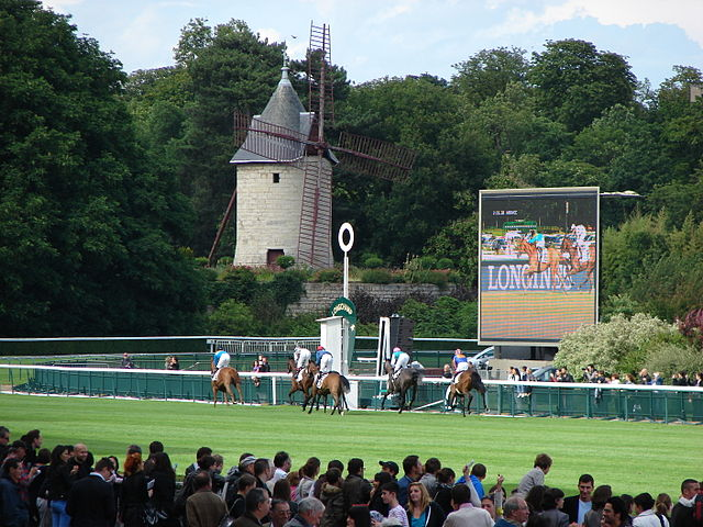 The windmill at the Hippodrome de Longchamp is a vestige of the old Abbey of Longchamp, destroyed after the French Revolution.