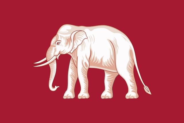 """""""The White Elephant Flag"""" or  Flag of Siam in 1855–1916"""